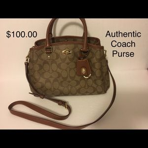 Authentic brown coach purse. Check out my closet.